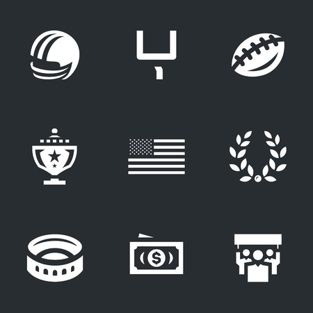 Vector Set of American football Icons.