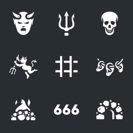 Vector Set of Hell Icons.