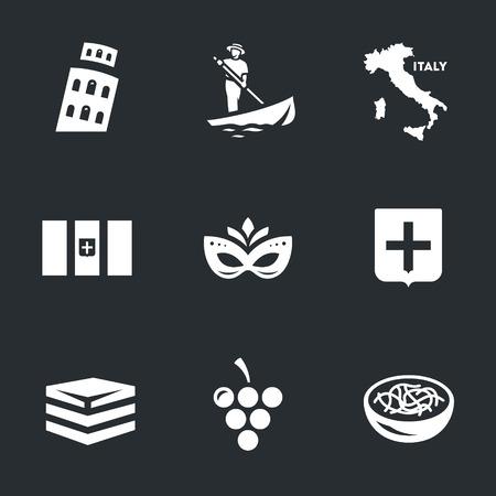 Vector Set von Italien Icons. Vektorgrafik