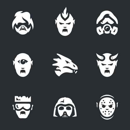 Vector Set of Post-apocalypse Characters Icons.