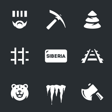 Vector Set of Siberia Icons.