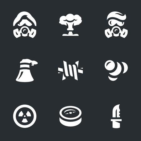 Vector Set of Post-apocalypse Icons.