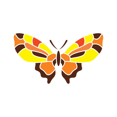 Butterfly abstract sign