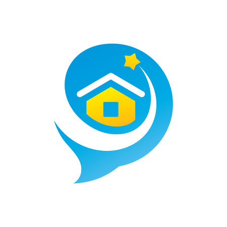 Talk about real estate sign. Stock Vector - 96981527