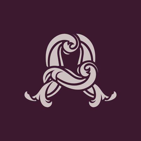 Diseño de concepto de logotipo abstracto letra A