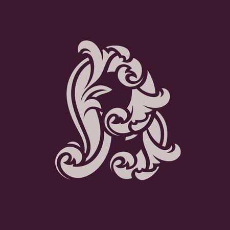 Diseño de concepto de logotipo abstracto letra B