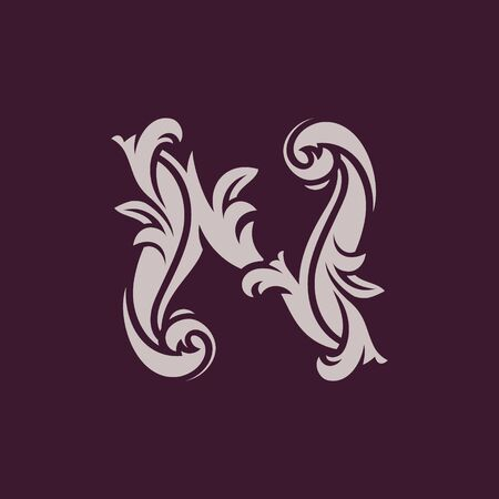 Ilustración de vector de logo de letra N