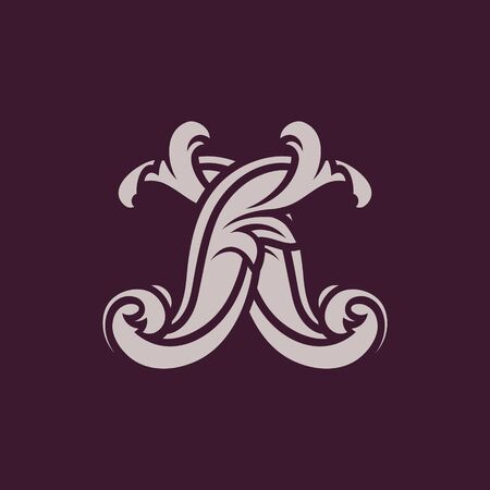letter x symbol icon on color background Vector illustration. Stock Illustratie