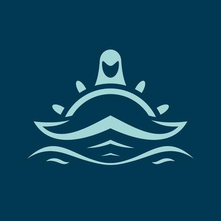 Spirit of the ocean sign Illustration