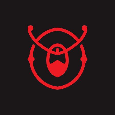 Samurai abstract sign