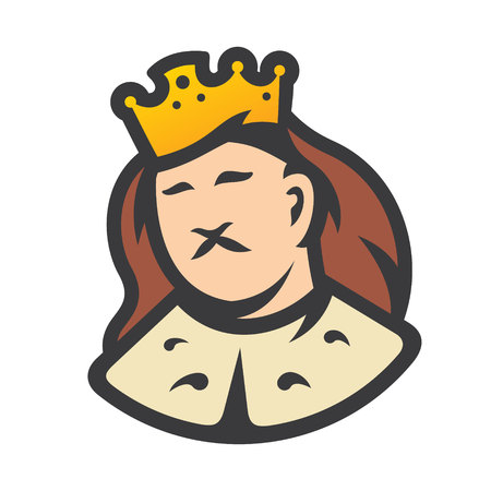 Royal King head sign Ilustracja