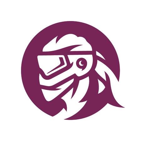 Paintball mask silhouette sign Illustration
