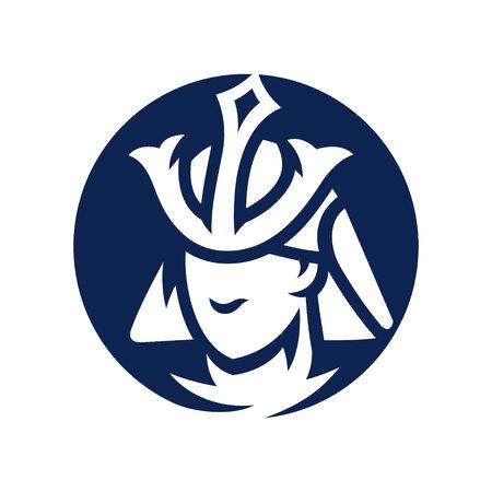 Japan Samurai warrior silhouette sign