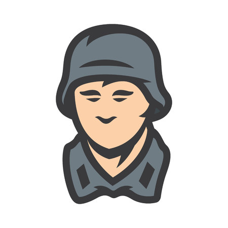 German soldier sign Illustration