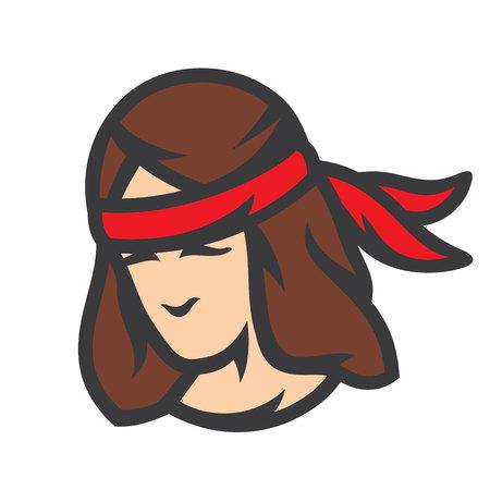 Injun warrior sign. Vector Illustration.