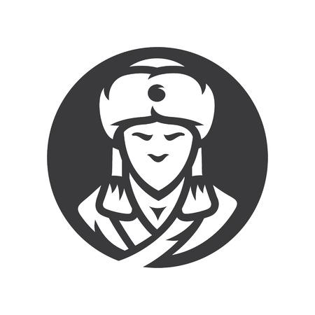 Khan of the Golden Horde vector simple silhouette Illustration. Vector Illustration