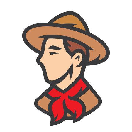 Illustration vectorielle de jeune garçon scout. Vecteurs