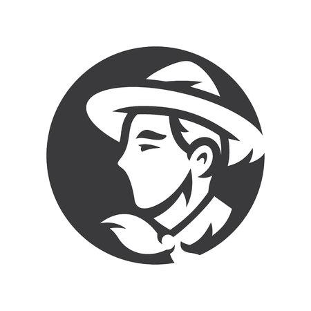 Jeune Boy Scout vector silhouette simple Illustration.