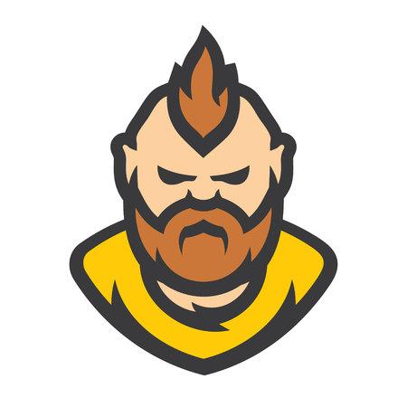 Bearded man Vector sign