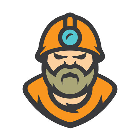 Miner Vector Cartoon illustration.