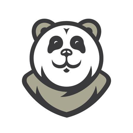 Panda Vector Cartoon illustration.