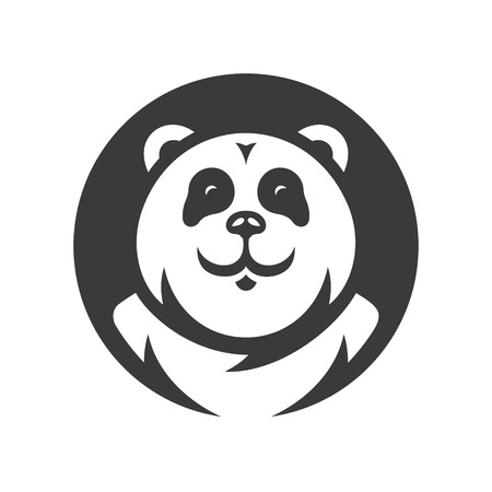 Panda Vector silhouette sign.