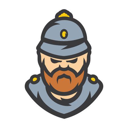British Policeman Vector Cartoon illustration.