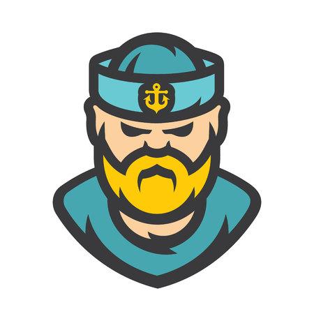 Sailor man Vector Cartoon illustration.