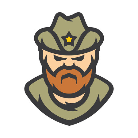 Sheriff Policeman Vector Cartoon illustration.