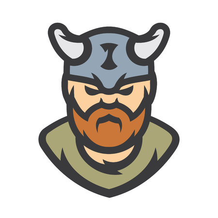 Viking warrior Vector Cartoon illustration. Illustration