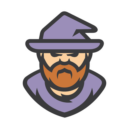 Wizard Warlock Vector Cartoon illustration