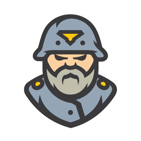German soldier Vector Cartoon illustration.  イラスト・ベクター素材
