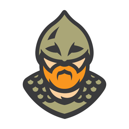 Viking warrior Vector Cartoon illustration.  イラスト・ベクター素材