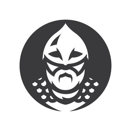 Viking warrior Vector silhouette sign  イラスト・ベクター素材