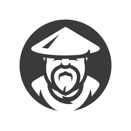 Shaolin monk Vector silhouette sign