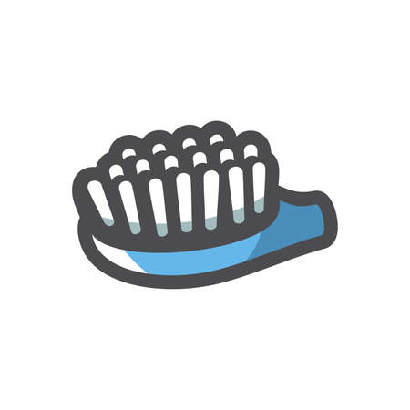 Teeth blue Brush Vector icon Cartoon illustration.