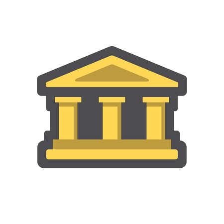 Bank building. House with columns. Vector Cartoon illustration 向量圖像