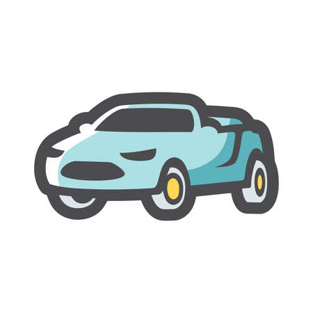 Cabriolet summer luxury Car Vector icon Cartoon illustration. Ilustracja