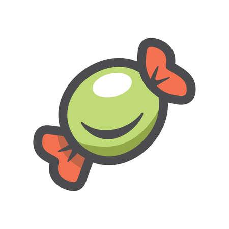 Sweet Candy Lollipop Vector icon Cartoon illustration.