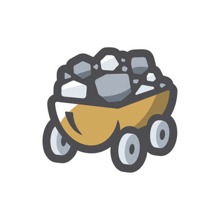 Coal Wagon Ore Cart Vector icon Cartoon illustration Stock fotó - 155353691
