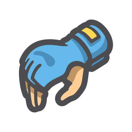 Gloves for Mixed Martial Arts Vector icon Cartoon illustration