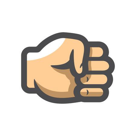 Fist Hand Fingers Vector icon Cartoon illustration 矢量图像