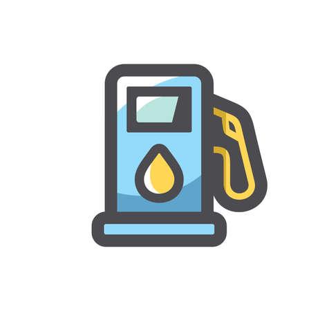 Oil Gas Station Equipment Vector icon Cartoon illustration.