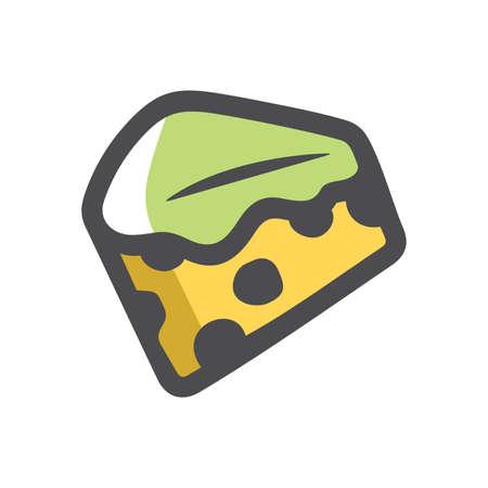 Mold Cheese green Vector icon Cartoon illustration.