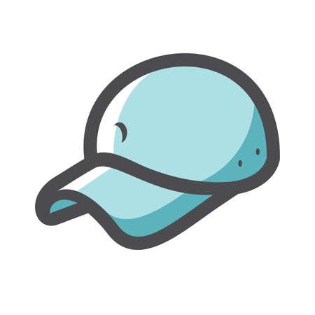 Baseball Cap Style Headwear Vector icon Cartoon illustration. 矢量图像