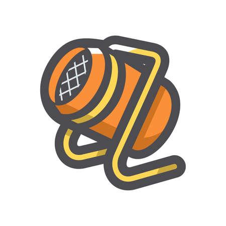 Heat gun equipment Vector icon Cartoon illustration.