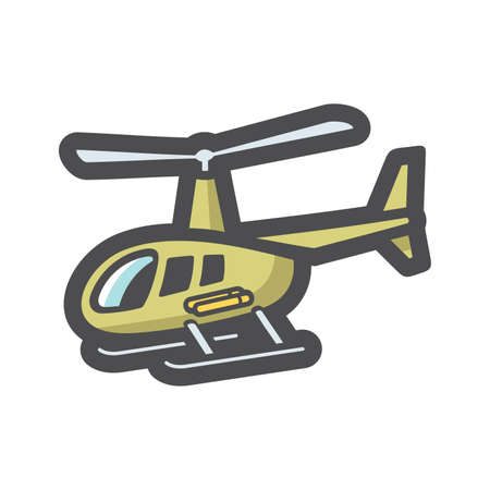 Military Helicopter Air Force Vector icon Cartoon illustration. 矢量图像