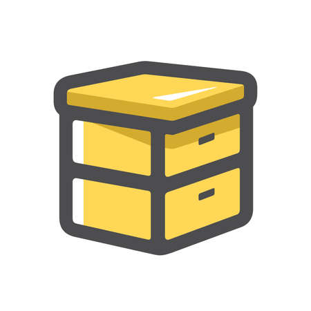 Hive Beekeeping Apiary Vector icon Cartoon illustration 矢量图像