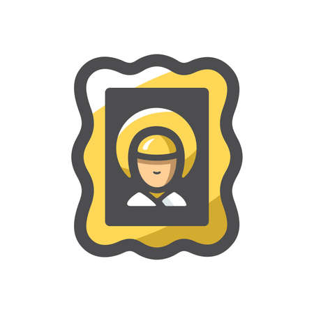 Holy image Divine Face Vector icon Cartoon illustration
