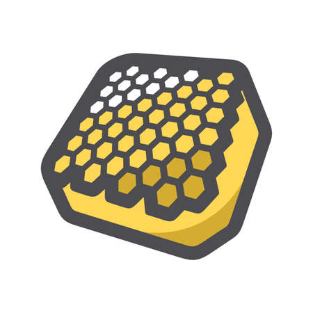 Honeycomb Natural Honey Vector icon Cartoon illustration